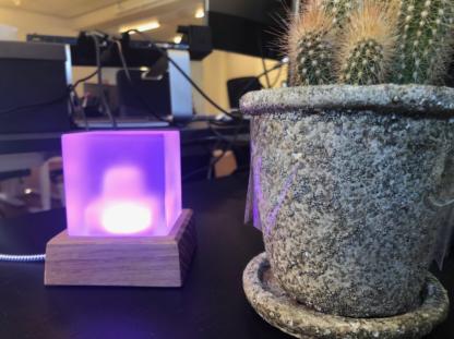 BI-Beacon purple at office